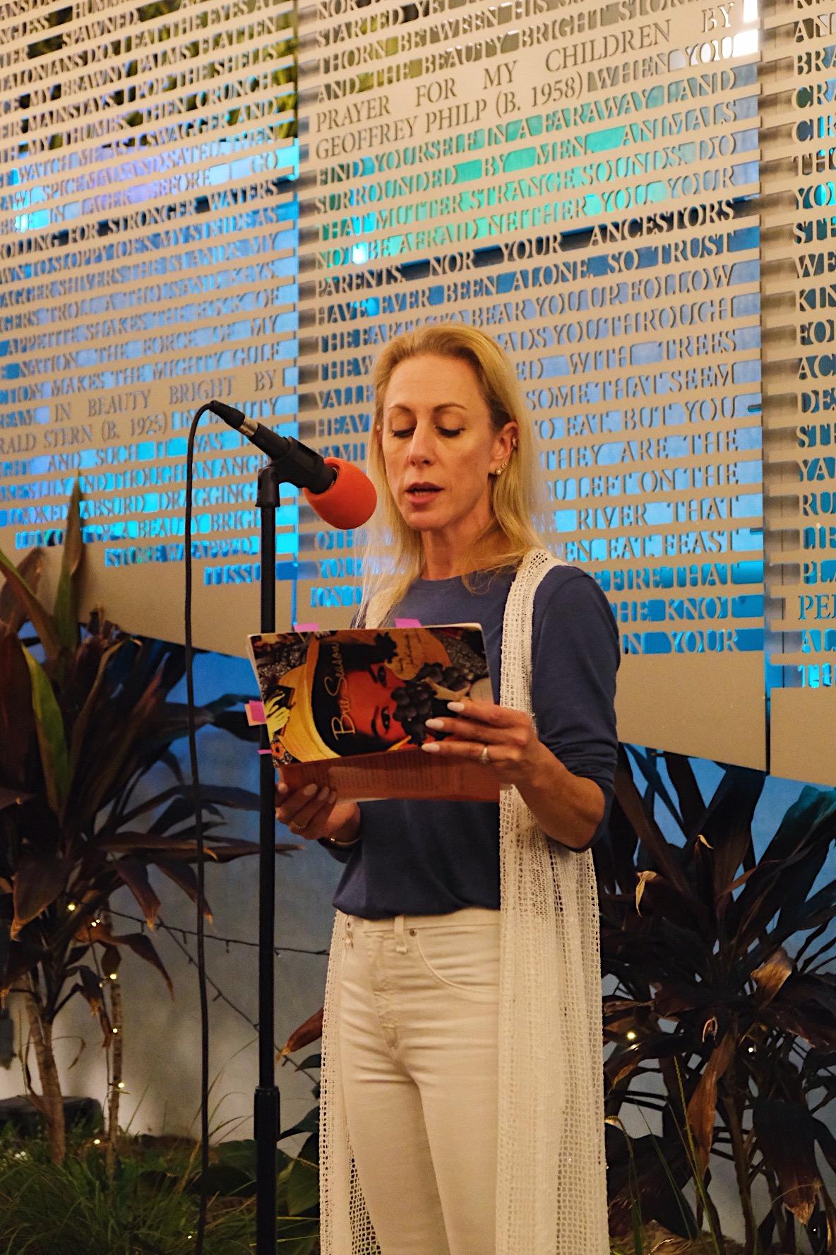 Jen reading at The Betsy 4